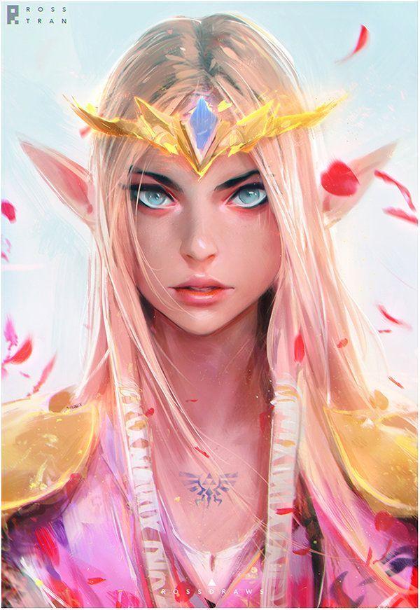 Zelda : YouTube! by rossdraws.deviantart.com on @DeviantArt - More at https://pinterest.com/supergirlsart/ #princess #fanart #portrait