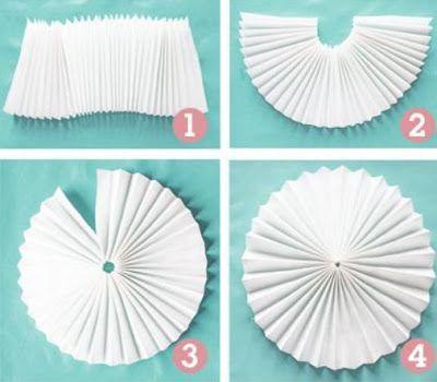 Adornos de papel colgantes para fiestas ~ cositasconmesh