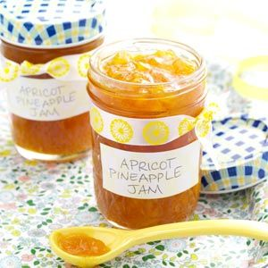 "Apricot Pineapple Jam Recipe -Dried apricots, crushed pineapple and grapefruit juice create a memorable jam. ""The juice is what makes the jam taste so good,"" says Carol Radil of New Britain, Connecticut."