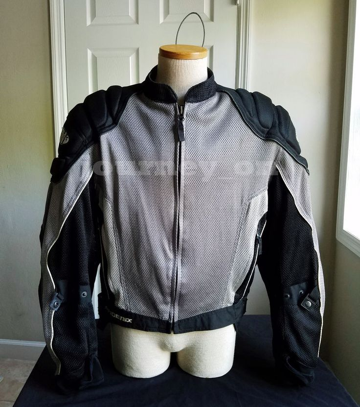Joe Rocket Phoenix 3.0 Motorcycle Riding Jacket Mesh Men's XL Silver Black #JoeRocket