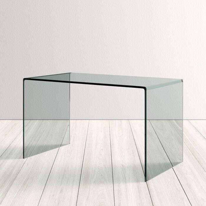 Glacier Glass Modern Desk Kd Modern Desk Modern Glass