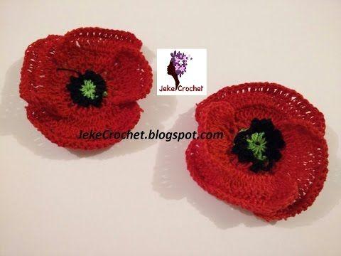 Amapola - Papavero - Poppy Flower (modelo 2) - Crochet- Ganchillo - Uncinetto. Paso a Paso - YouTube
