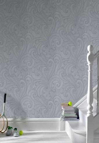 Saville Steel is ornamental and simple in design. This papers lines are drawn in glitter for a soft, luxurious finish. $99 per roll from www.wallcandywallpaper.com.au