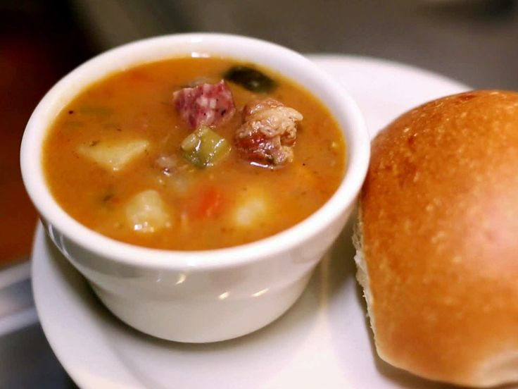 Get this all-star, easy-to-follow Hangover Soup recipe from Diners, Drive-Ins and Dives.