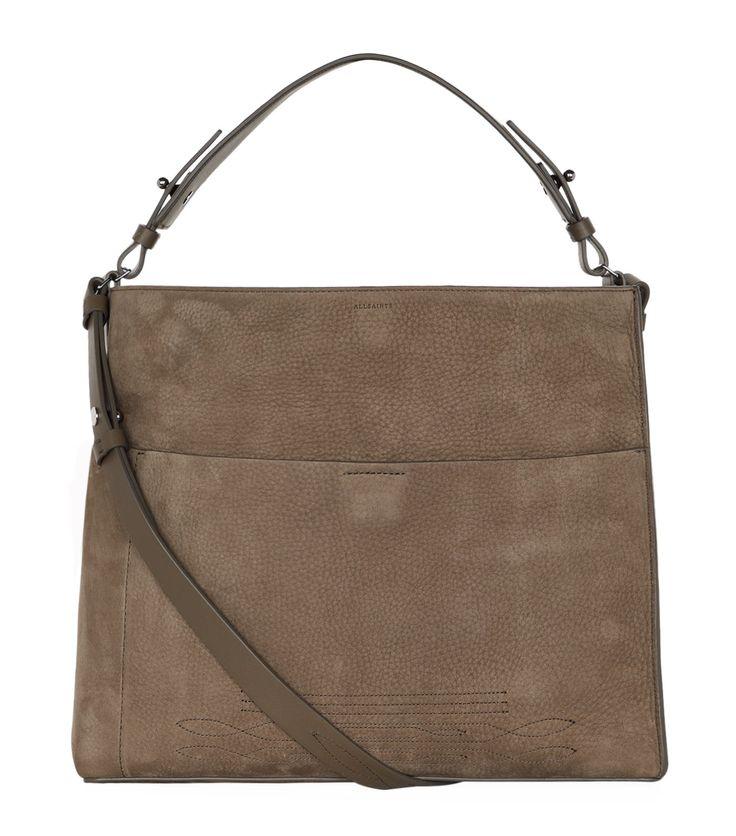 ALLSAINTS . #allsaints #bags #shoulder bags #hand bags #suede #tote #