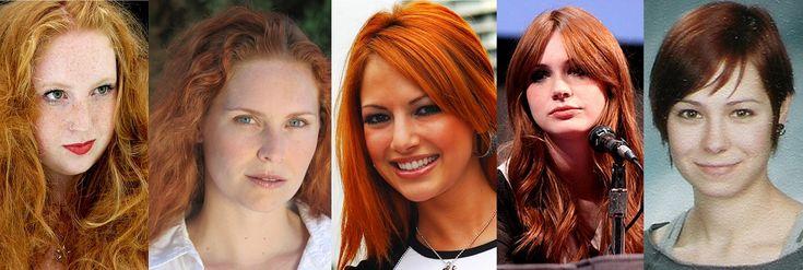 Meleg vörös hajszín Red hair