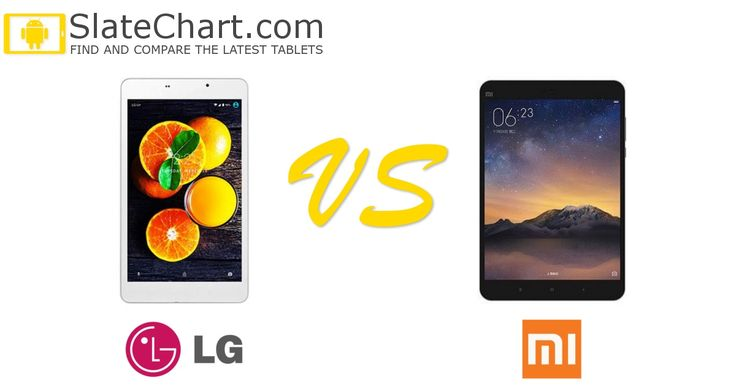 The side-by-side comparison of the LG U+ Pad 8 and Xiaomi Mi Pad 3 tablets. #tablets #comparison #LGUPad8 #XiaomiMiPad3