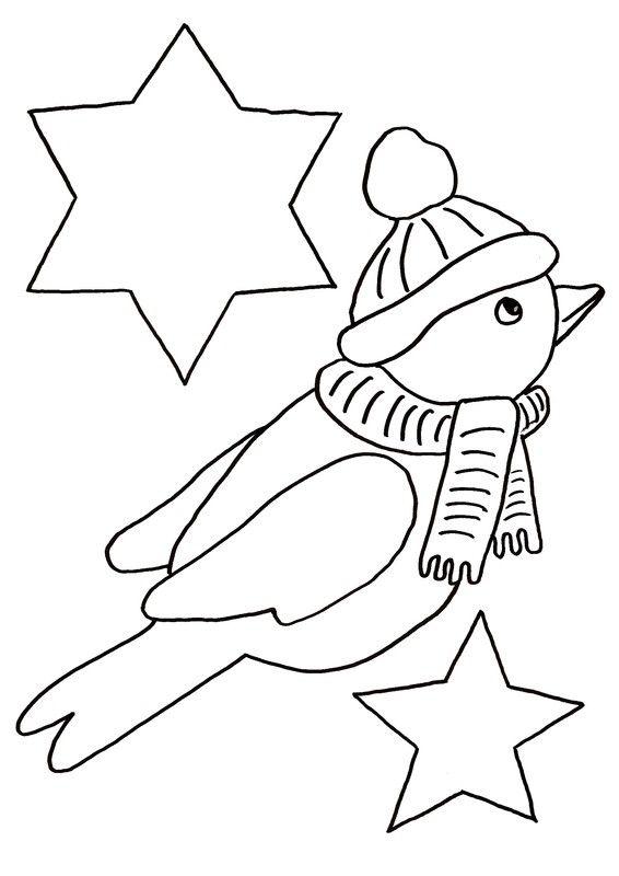 """Gabarit 1 - Calendrier de l'Avent """"les oiseaux"""""""