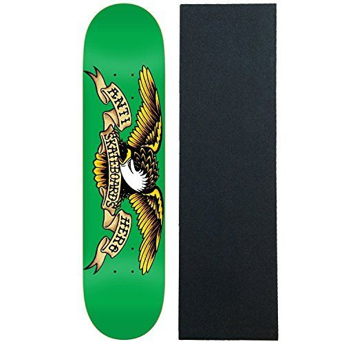Anti Hero Skateboard Deck Classic Eagle Green 7.81″ With Pro Grip: Classic Eagle Includes a sheet of Black Diamond Griptape