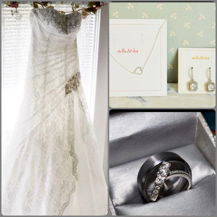Wedding Dress and Rings, wedding Photos.