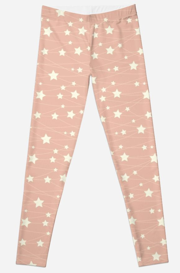 Hanging Stars - ashy pink by LunaPrincino  #redbubble #print #prints #art #design #designer #graphic #clothes #for #women #apparel #shopping #leggings #bottom #fashion #style #pattern #texture #pretty #cute #beautiful #girlish #dreamy #hanging #stars #ashy #pink #and #cream #beige #fantasy #starry #pale #pastel #magic #gift #idea #trend #yoga #summer #spring #sport