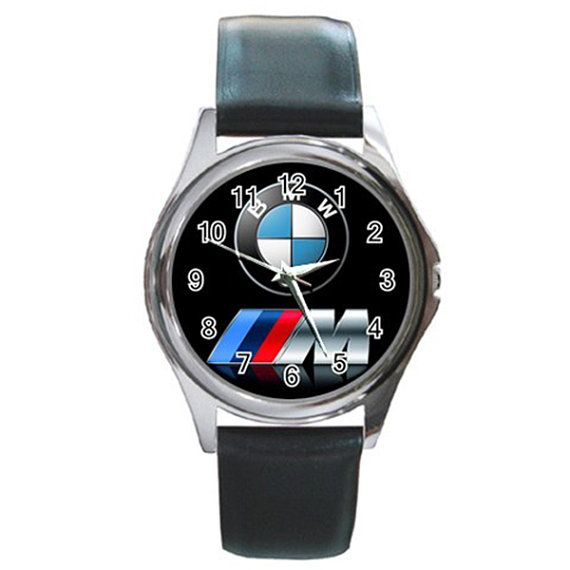 New Leather band BMW MPOWER Logo Round Metal Watch by isaaturbrian