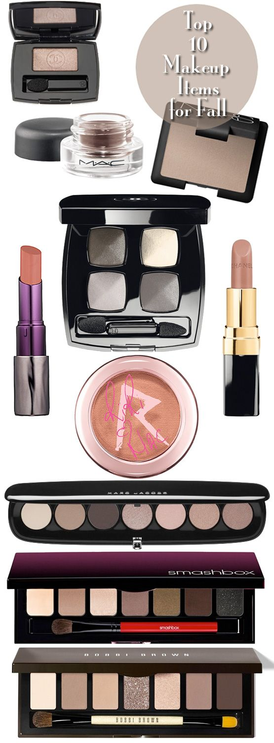 Top 10 Makeup Items for Fall