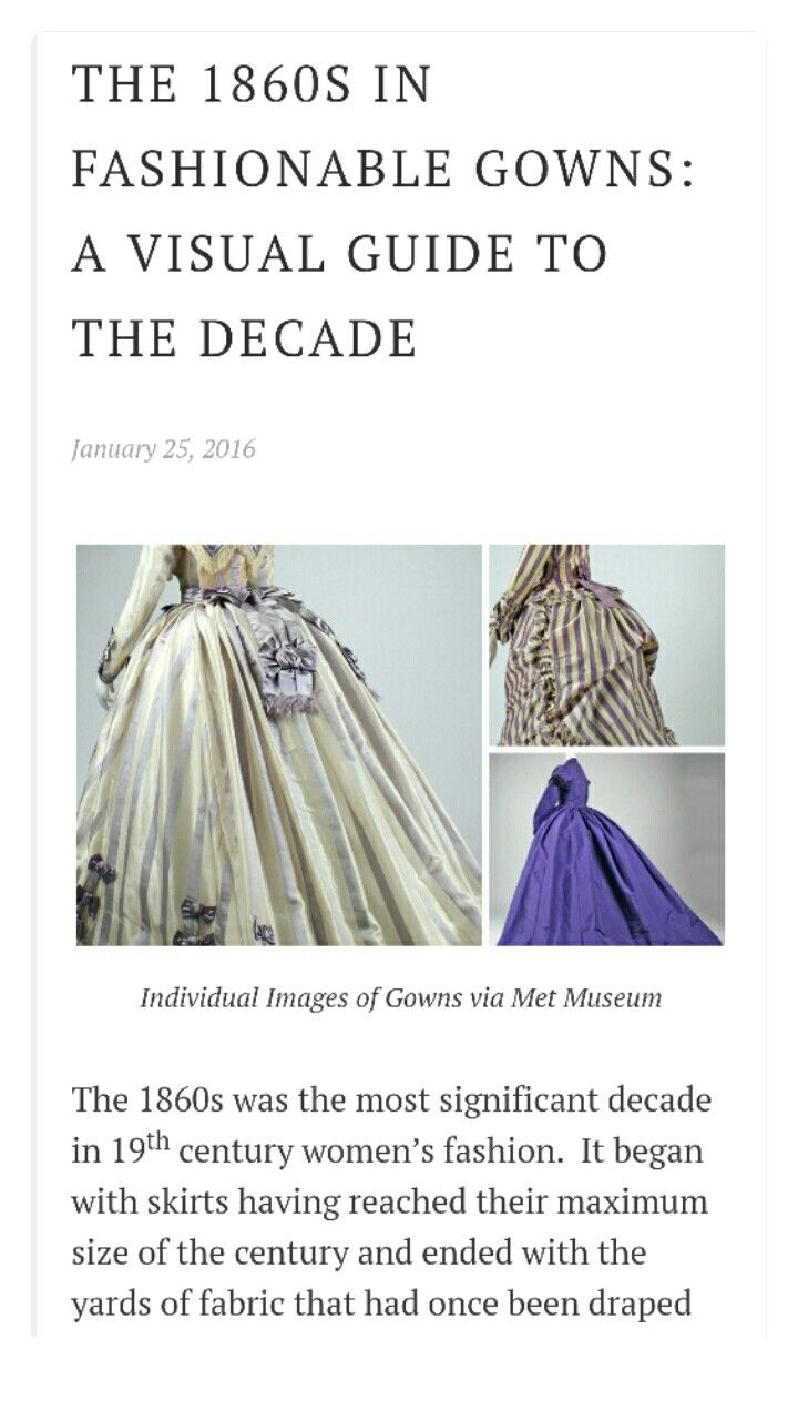 THE 1860S IN FASHIONABLE GOWNS: A VISUAL GUIDE TO THE DECADE