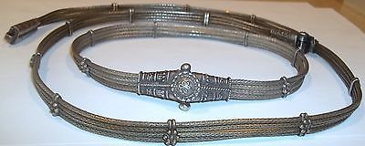 Antique Silver Wedding Belt Peacock Buckle Matching Necklace Indian Set Tribal