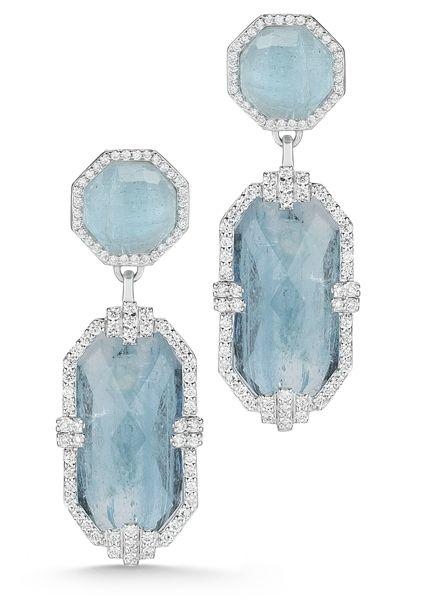 This March Baby loves these Ivanka Trump Patras aquamarine drop earrings #march #aquamarine