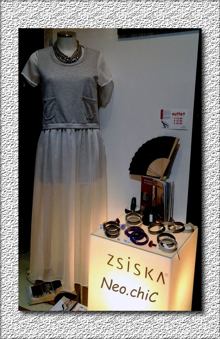 """collana in metallo abito in lungo, bellissimo bijuox ZSISKA """"outley"""""""