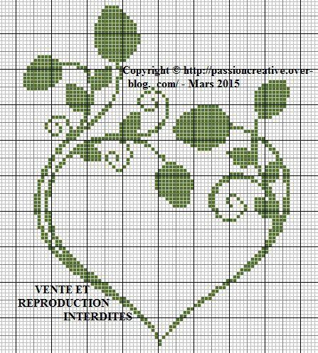 Blomsterranke i form af et hjerte..