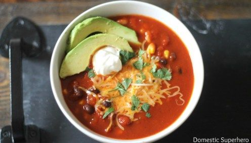 Skinny Cheesy Enchilada Soup