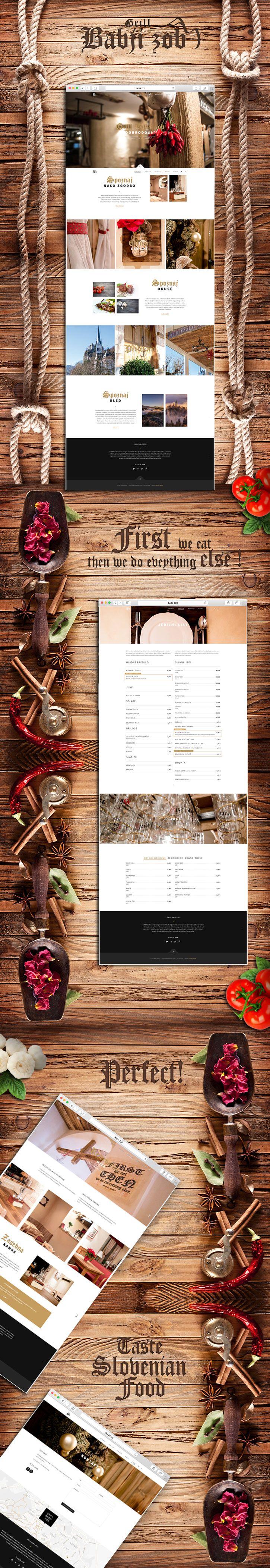 Website for Slovenian Grill Babji Zob.