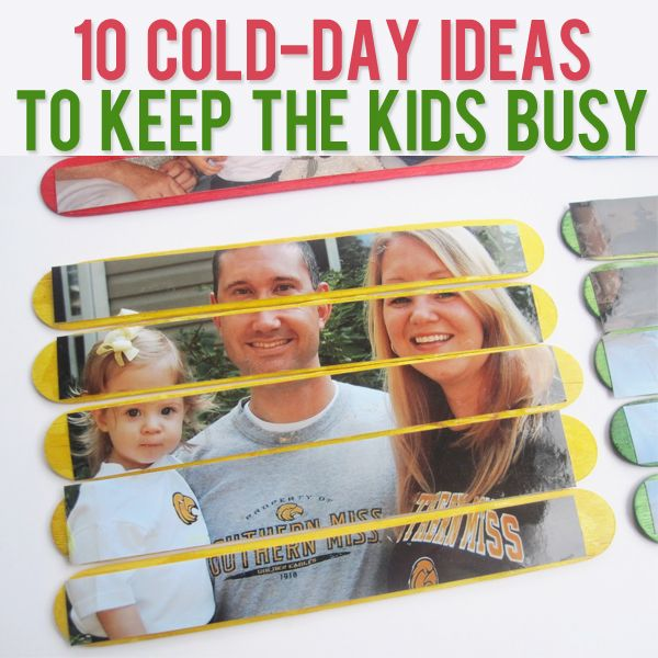 "10 Cold Day Ideas to Keep the Kids Busy (Could be used for the ""too hot"" days for TX and in Perth)"