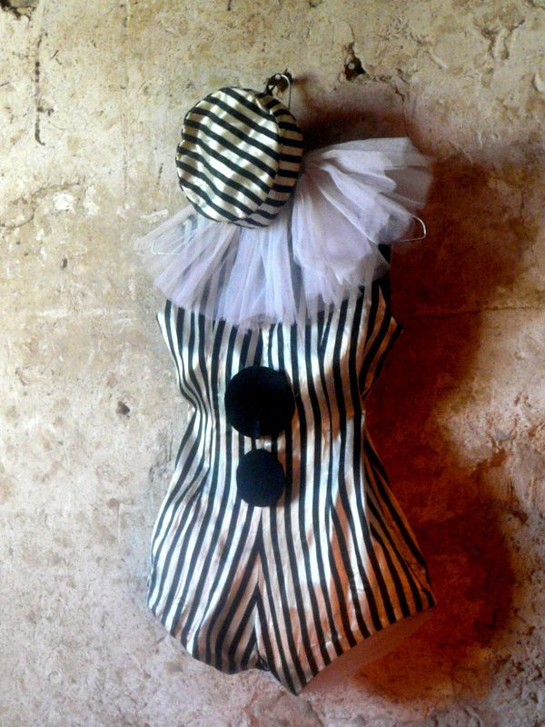 vintage circus clown pierrot costume