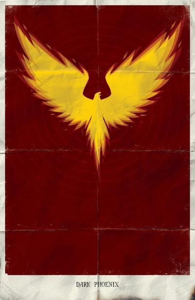 minimalist dark phoenix - marko manev