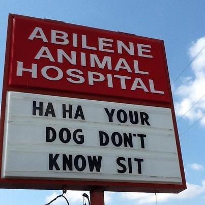 Another Abilene Animal Hospital Sign