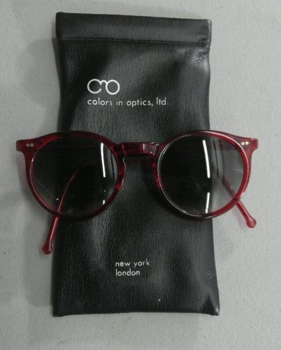 Colors-in-Optics-Sanford-Hutton-vintage-red-preppy-sunglasses-RARE-80s-supreme