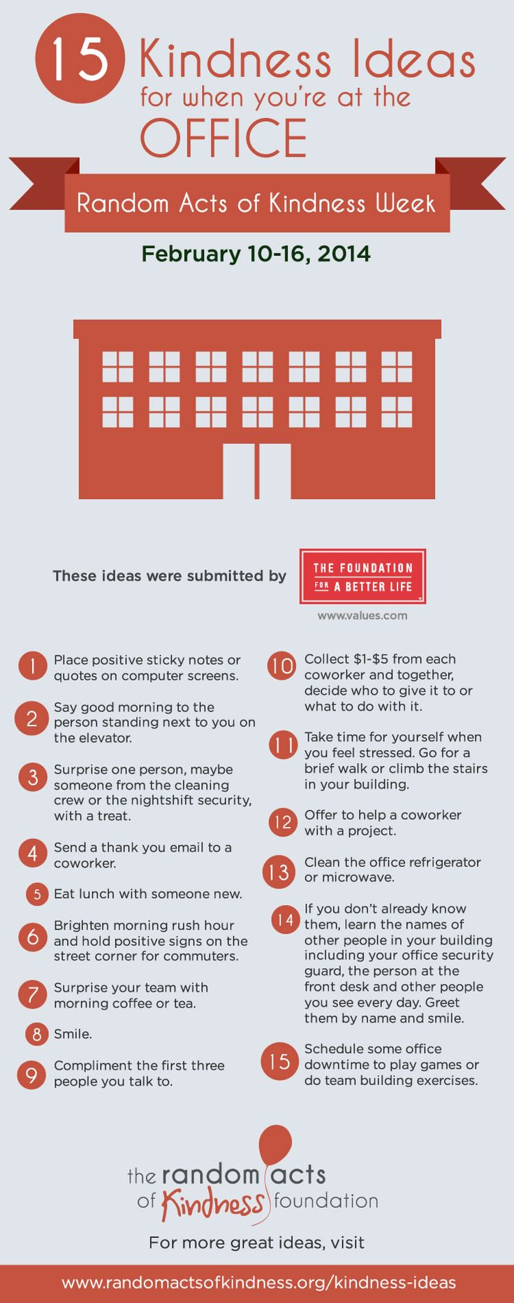 15 Kindness Ideas for when you're at the office #RAKWeek