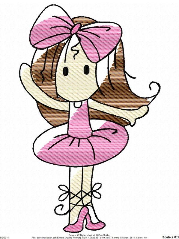 Ballerina Sketch - 4 Sizes!