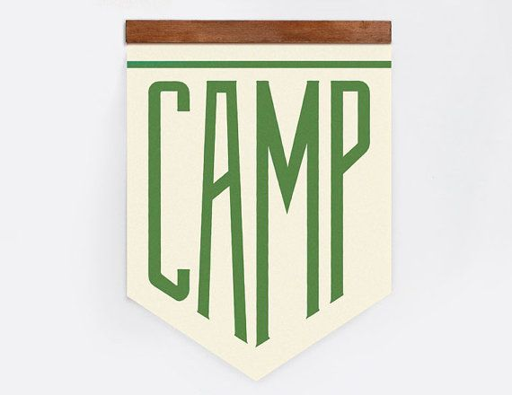 CAMP Canvas with Wood Frame by ElloThere on Etsy, $60.00
