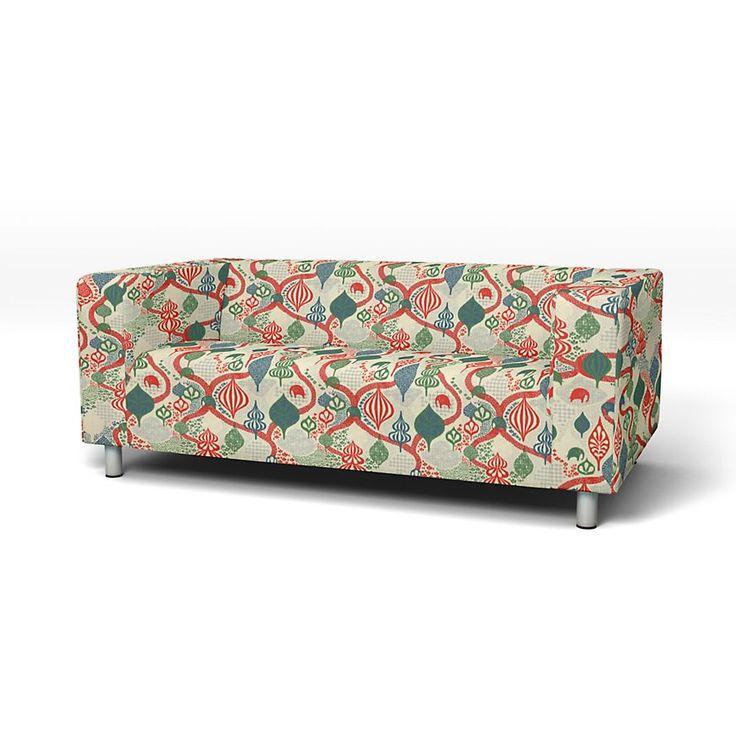 Klippan, Sofa Covers, 2 seater, Regular Fit using the fabric Panama Cotton Absolute White