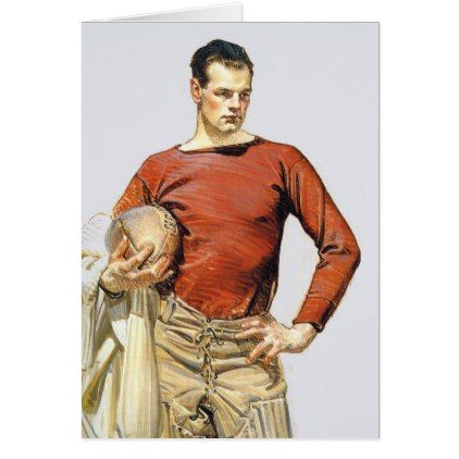 1913 Football Player Card - vintage gifts retro ideas cyo