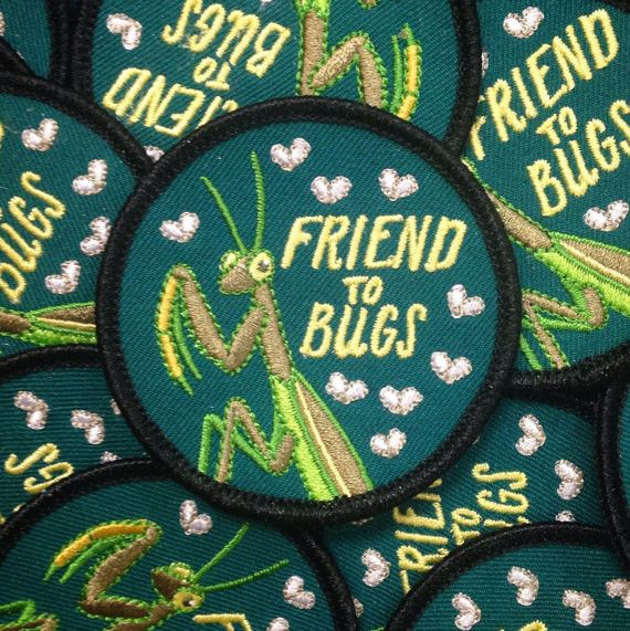 "-2.5"" Round Iron-On Embroidered Patch -It's like a merit badge for being a rad human."