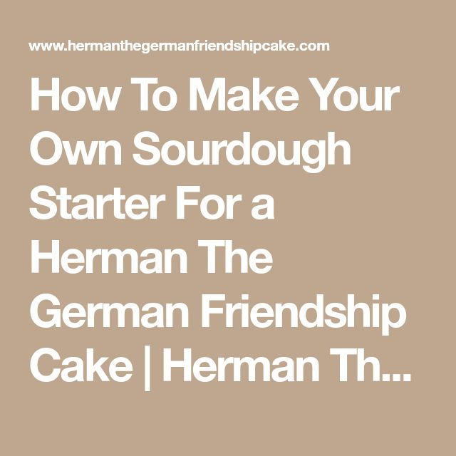 How To Make Your Own Sourdough Starter For a Herman The German Friendship Cake | Herman The German Friendship Cake