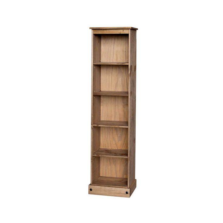 Corona Waxed Pine Tall Narrow Bookcase | Furniture | The Range