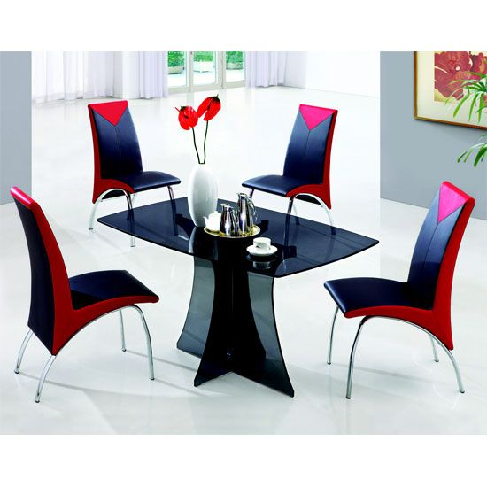 Modern Glass Kitchen Table 100 best 4 seater glass dining sets images on pinterest | dining