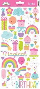 Doodlebug > Fairy Tales > Icons - Fairy Tale Cardstock Stickers - PRE ORDER: A Cherry On Top