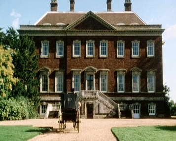 Netherfield, the rented home of Charles Bingley, is played by Edgcote House near Banbury in Oxfordshire. (1995 BBC version of Pride and Prejudice)