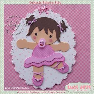 Doce Arte by Pati Guerrato: Guirlanda de Maternidade - Bailarina Baby