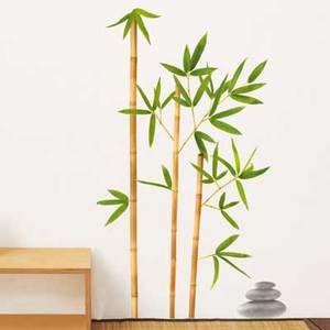 Sticker mural végétal Bambou Aurea 49x69cm Original