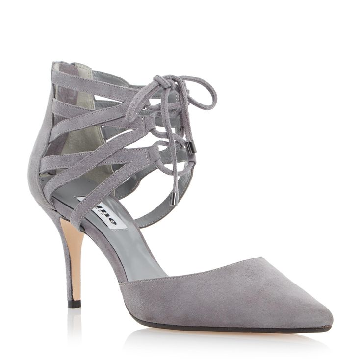 DUNE LADIES CRISTINA - Two Part Lace Up Court Shoe - grey | Dune Shoes  Online
