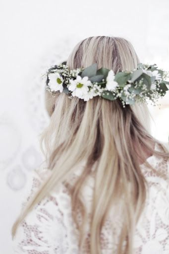 @Pantene, boho hair, flower crown
