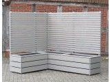 Pflanzkasten mit Rankgitter / Sichtschutz - Made in Germany