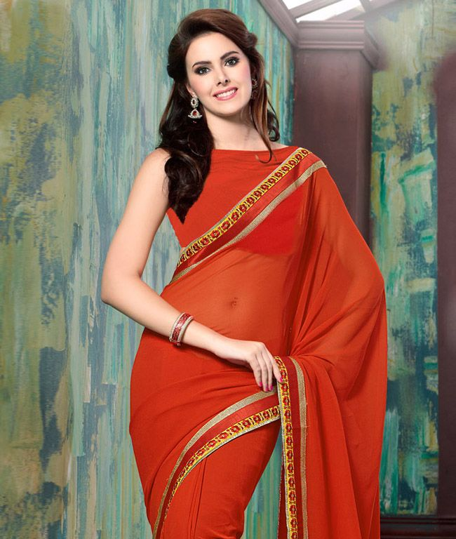 Find yourself with fashionandyou.com as it brings to you this stunning new collection of exquisite sarees by Hypnotex, a name revered in the world of ethnic fashion. Featuring meticulous craftsmanship, rustic colours and a world of alluring designs, each piece from this line is an absolute must-have for all style-conscious divas. Take your pick now!BRAND: HypnotexCATEGORY: Saree with Unstitched BlouseARTICLECOLOURMATERIALLENGTHSareeOrangeGeorgette5.30 metersBlouseOrangeGeorgette0.80…