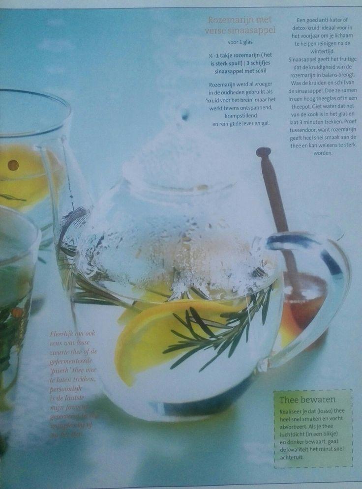 Rozemarijn met verse sinaasappel thee
