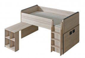 GIMMI, patrová postel se stolkem G15, dub santana + barva: ...