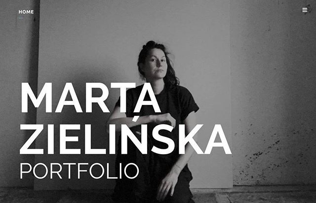 New website for Marta Zielińska. www.zielinska.works #webdesign #design #graphicdesign