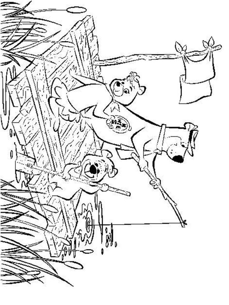 Yogi Bear and Boo Boo Coloring